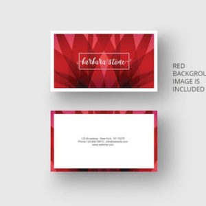Business card template with red design by PixaSquare