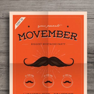 Movember Event Flyer by Guuver