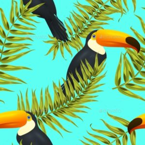 Seamless Tropical Pattern, GraphicRiver