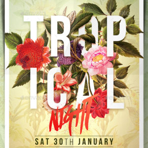 Tropical Night Flyer, GraphicRiver