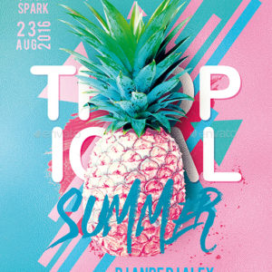 Tropical Summer Party Flyer, GraphicRiver