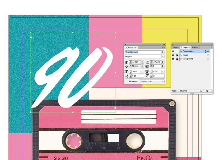 Tutorial: How to Create a 90s Style Event Flyer in Adobe InDesign